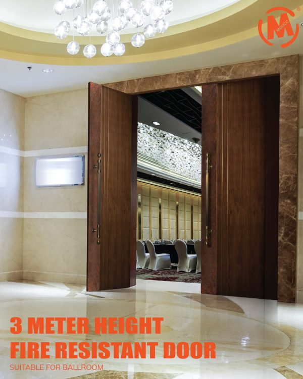 High Pressure Laminate (HPL), Fire Door, One Hour, Double Leaf, Ballroom, Banquet Hall