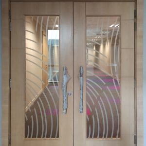 Veneer, ID Door, Acoustic, Double Leaf, Architrave
